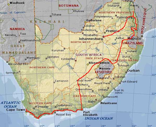 Cartina South Africa.Picture Of Africa Map