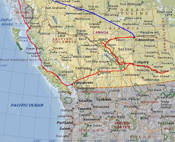 America Occidentale Cartina.Cartina Stradale America Ovest